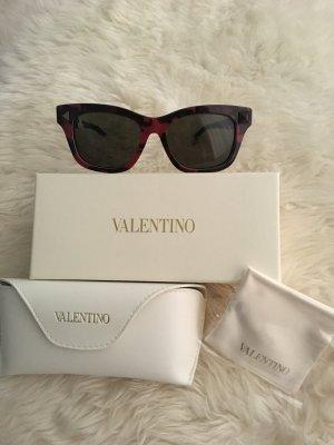 Valentino Neue Sonnenbrille Rot und Swartz