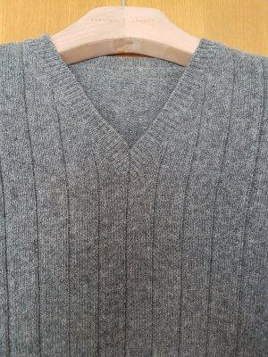 VALENTINO Pullover XL # reine Wolle # grau