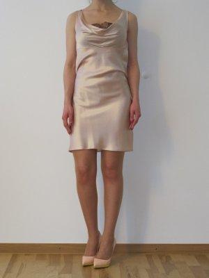 Valentino RED Seidenkleid Kleid Abendkleid Schwarze Spitze 34 XS Rose Rosa