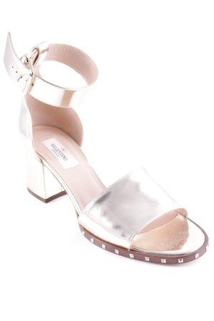 Valentino Riemchen-Sandalen goldfarben Elegant