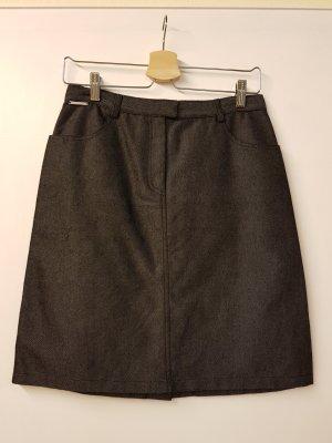 Valentino Pencil Skirt slate-gray cotton