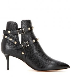 Valentino Booties black leather