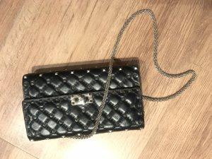 Valentino Rockstud Clutch Spike schwarz Leder Nieten Luxus