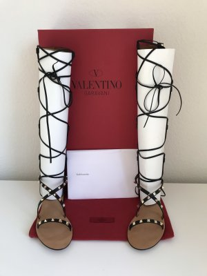 Valentino Roman Sandals black-gold-colored