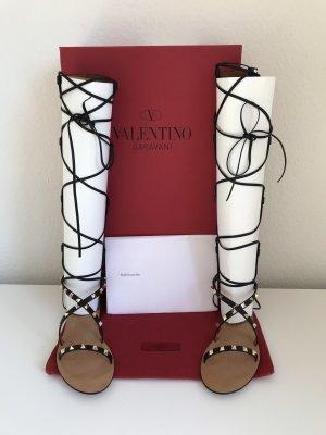 Valentino Roman Sandals black-gold-colored