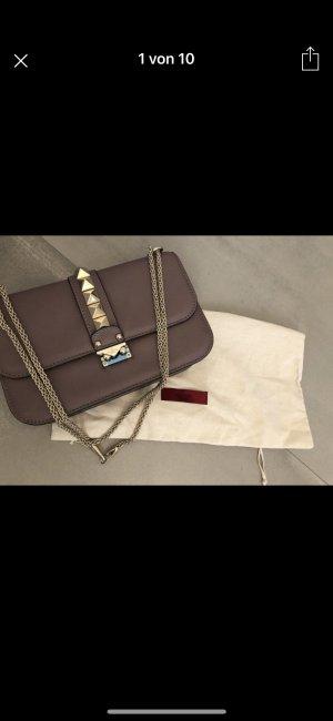 Valentino Rockstud Lock Crossbody Bag Medium