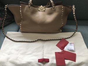 Valentino Shopper beige clair cuir