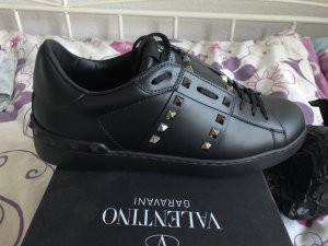 Valentino Lace-Up Sneaker black-gold-colored