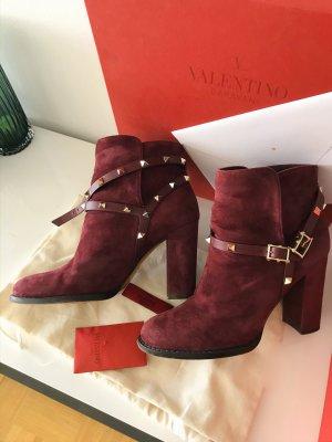 Valentino Booties dark red-purple