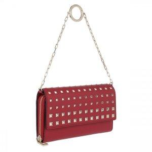 Valentino Pochette rouge foncé cuir