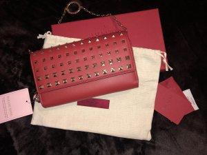 Valentino Clutch dark red leather