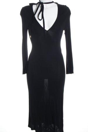 Valentino Roma Vestido de manga larga negro elegante