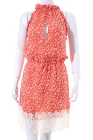 Valentino Roma schulterfreies Kleid abstraktes Muster Beach-Look
