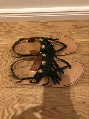 C. Valentino Outdoor Sandals black