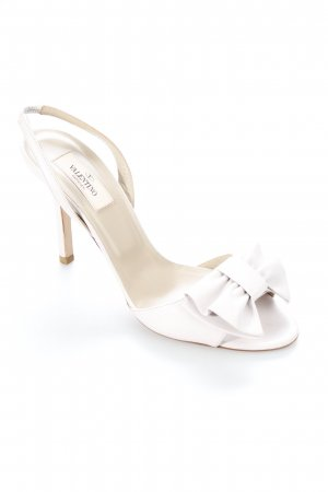 Valentino High-Heeled Sandals light grey Bow detail