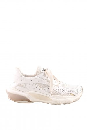 "Valentino Lace-Up Sneaker ""Low-Top Studded Bounce Sneakers White"""