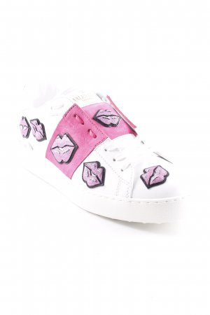 "Valentino Schnürsneaker ""Open Sneakers Kisses White/Pink"""