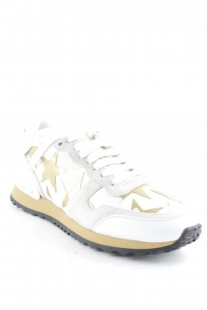 "Valentino Lace-Up Sneaker ""Rock Runner Sneaker With Stars Bianco/Oro 36"""