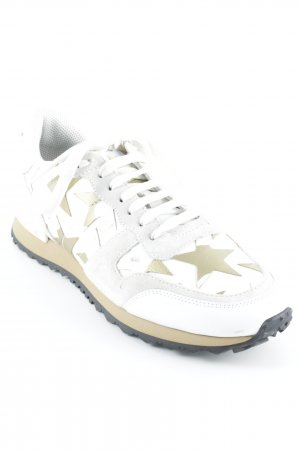 "Valentino Sneaker stringata ""Rock Runner Sneaker With Stars Bianco/Oro 39"""