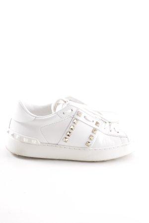 "Valentino Schnürsneaker ""Rockstud Untitled Sneaker Bianco"""