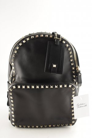 "Valentino Schoolrugzak ""Studded Backpack Black"" zwart"