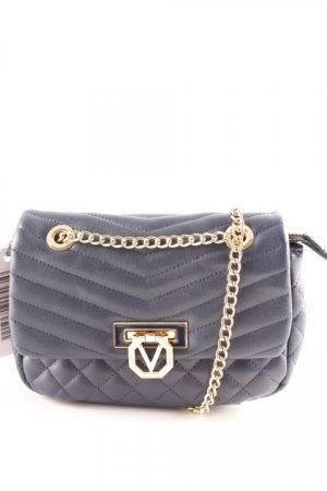 Valentino Schultertasche dunkelblau Steppmuster Elegant