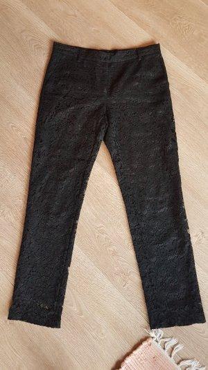 VALENTINO seiden spitzen hose schwarz gr.38