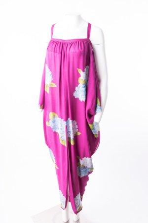 VALENTINO - Seidenkleid mit Blumenprint Magenta