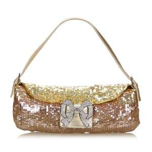 Valentino Sequined Leather Handbag