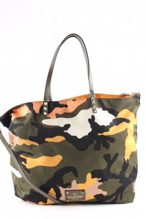 "Valentino Shopper ""Rockstud Reversible Shopper Camouflage/Orange """