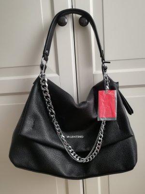 Valentino Shopping Bag Schultertasche Valentino Tasche Shopper mit Schmuck Chain Kette Silber Handtasche Designer Softleder Damen Taschen