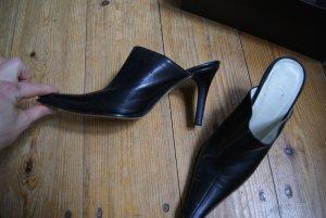 Valentino Escarpin à bride arrière noir cuir