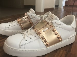 Valentino Lace-Up Sneaker white-rose-gold-coloured