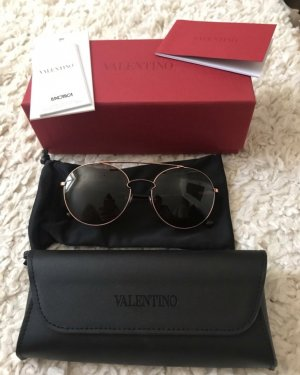 Valentino Gafas de sol redondas marrón-color rosa dorado
