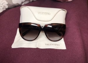 Valentino Sonnenbrille V603S cat eye braun gold Havanna
