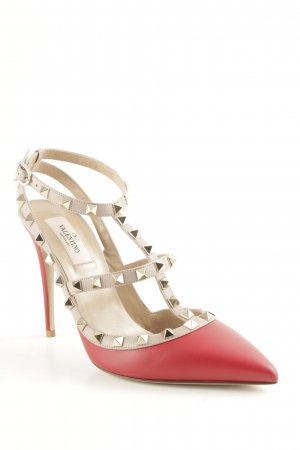 """Valentino Spitz-Pumps """"Rockstud Ankle Strap Pump Red 39 """""""