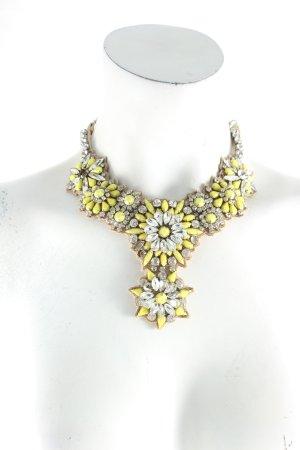 Valentino Statementkette silberfarben-gelb Glitzer-Optik