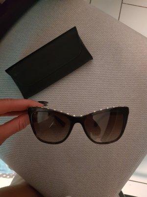 C. Valentino Angular Shaped Sunglasses brown-dark brown