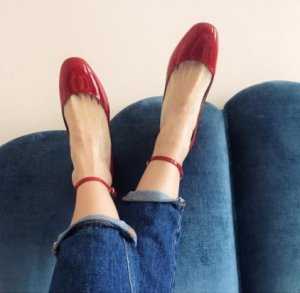 Valentino Mary Janes red leather