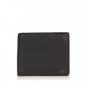 Valentino Textured Leather Bifold Wallet
