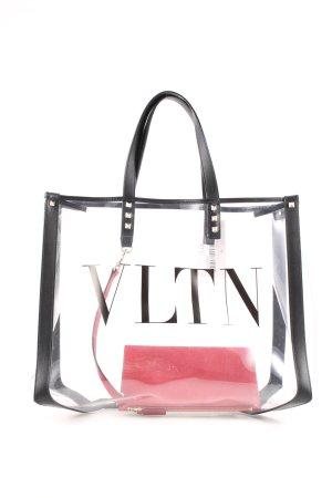 "Valentino Tote ""VLTN PVC Tote Transparente/Nero"""