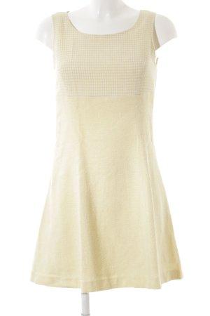 Valentino Trägerkleid blassgelb-weiß Webmuster Country-Look