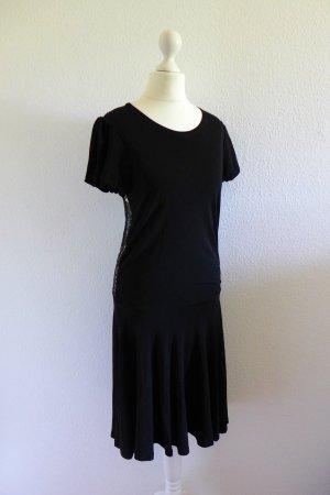 Valentino Vintage Kleid Abendkleid Spitze Gatsby tiefer Rücken schwarz Gr. 36 S