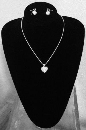 Valentinstag Pilgrim Silber Herz mit Strass Swarovski New