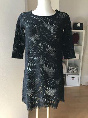 Valerie Khalfon Paris Spitzenkleid Kleid schwarz Spitze Designerkleid