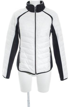 Valiente Veste d'extérieur blanc-noir style décontracté