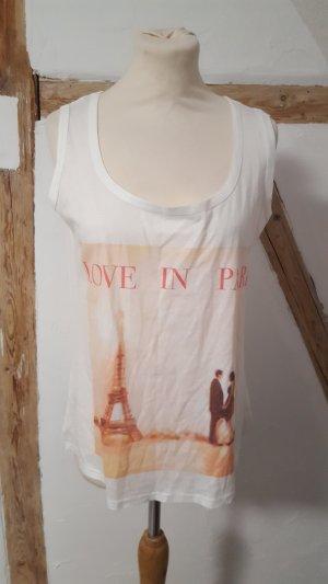 Vall Roy Boutique Shirt Tanktop Achselshirt mit Druck Größe M NEU