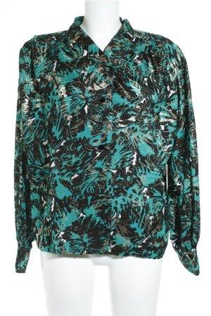 Valvason Serodine Turry Langarmhemd florales Muster extravaganter Stil