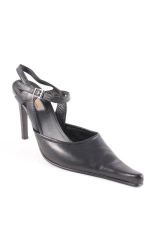van der Laan High Heels schwarz extravaganter Stil