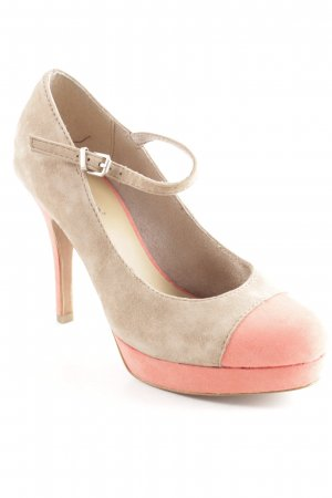 van der Laan Mary Jane Pumps beige-salmon elegant